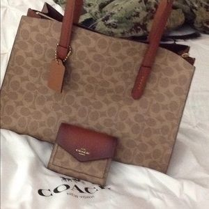 New coach purse and wallet